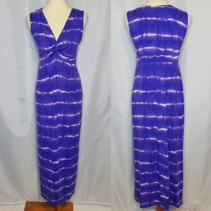 Chico's Purple White Tie Dye Maxi Dress